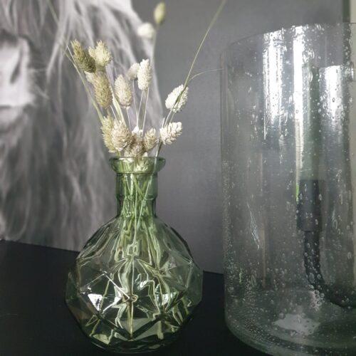 Vaasje Caro glas groen 11 x 15 cm