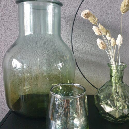 Vaas glas Loire olijf groen