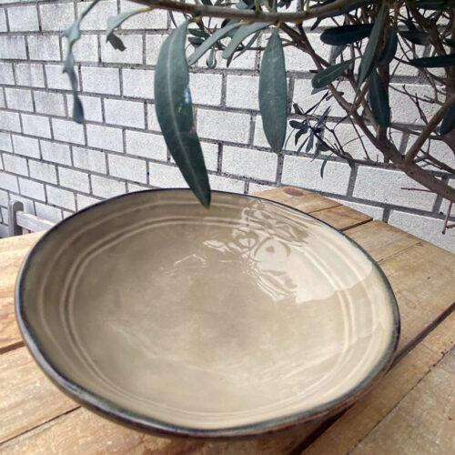 Handgemaakte bowl bruin