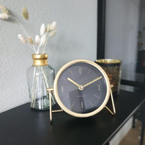 Klok Robin goud 18×7,5×16 cm