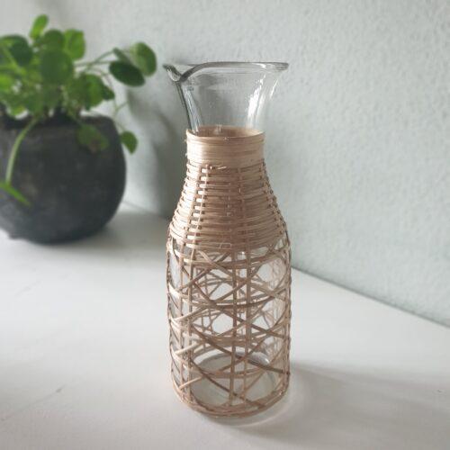 Schenk fles met bamboe